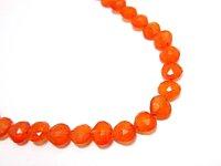 オレンジカーネリアンマロンカットたて穴