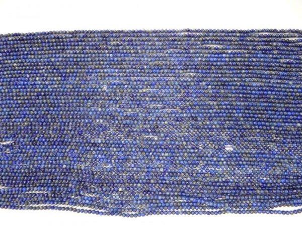 画像2: ラピスラズリ極小 2.2ミリ丸玉 40cm/連