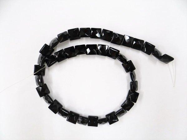 画像2: ブラックオニキス スクエアカット 10.5mm